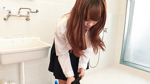 Anju Akane - Busty Anju Akane steps out of the shower and sucks cock  - Picture 8