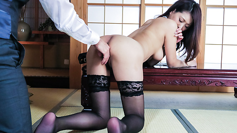 Miki Aimoto - Miki Aimoto, busty girl works cock in insane XXX  - Picture 9