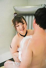 愛乃まほろ - 巨乳ソープ嬢潜望鏡フェラ~愛乃まほろ - Picture 2