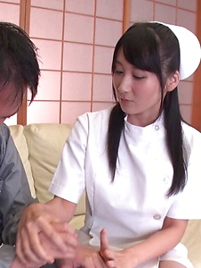 Chie Aoi - Naughty Asian blowjob by hot nurse Chie Aoi - Screenshot 1