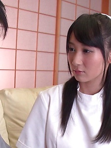 Chie Aoi - Naughty Asian blowjob by hot nurse Chie Aoi - Screenshot 2