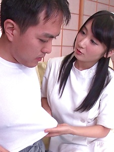 Chie Aoi - Naughty Asian blowjob by hot nurse Chie Aoi - Screenshot 7