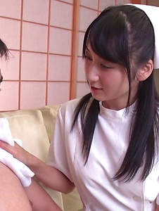 Chie Aoi - Naughty Asian blowjob by hot nurse Chie Aoi - Screenshot 8