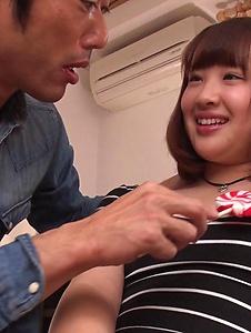 Rino Momoi - Amateur Rino Momoi Asian blowjob before sex  - Screenshot 11