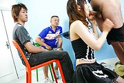 Maid teen Miku Airi on her knees for a japanese blowjob Photo 7