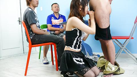 あいりみく - メイドさんのグループフェラ あいりみく - Picture 10