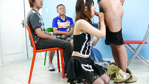 あいりみく - メイドさんのグループフェラ あいりみく - Picture 9