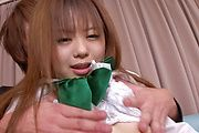 Teen Noriko Kago Has Her Hairy Pussy Creampied Photo 5