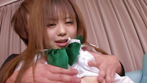 Noriko Kago - น่ารักและเงี่ยนเอเชียวัยรุ่น Babe โนริโกะคาโกะลูบไล้ด้วยความรักและหนักชิบ -  5 รูปภาพ