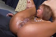 Tanned MILF Riku Hinano Tag Team And Creamed Photo 5
