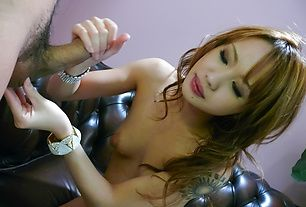 Luna in stockings has japanese blow jobs for everyone