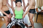 Raw Asian group sex with hairy model Sofia Takigawa  Photo 4