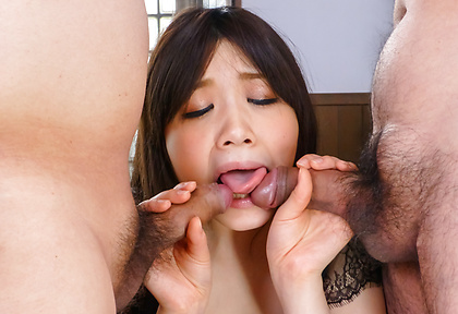 Asian blowjob at work by naughty Rie Tachikawa