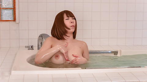 Meru Ayase - Big tits milf amazes with warm Asian blowjob  - Picture 11