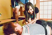 Mayu Kawai amazes wirth her Asian blowjob skills Photo 9