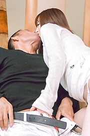 Miku Ohashi - Sweetie provides Asian blowjob before a wild fuck  - Picture 4