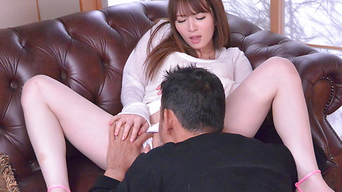 Miku Ohashi - Sweetie provides Asian blowjob before a wild fuck  - Picture 5