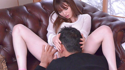 Miku Ohashi - Sweetie provides Asian blowjob before a wild fuck  - Picture 7