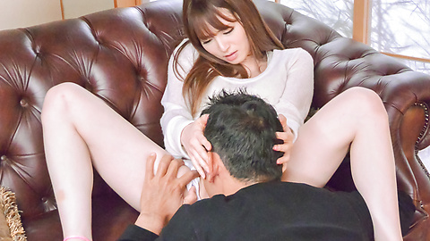 Miku Ohashi - Sweetie provides Asian blowjob before a wild fuck  - Picture 8