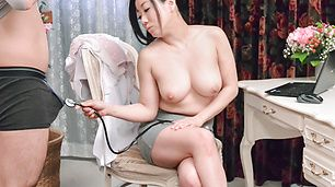 Busty doll amazes with her Asian blowjob