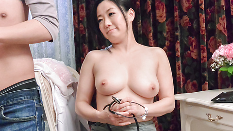 Shino Izumi - Busty doll amazes with her Asian blowjob  - Picture 12