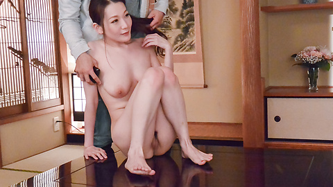 Tsubasa Takanashi - Busty milf provides Japan blowjob on two dicks  - Picture 9