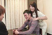 Horny Nana Nakamura provides special Asian blowjob  Photo 4