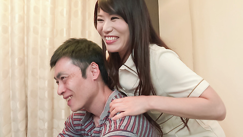 Nana Nakamura - Asian blow jobs by hot milf in sexy lingerie  - Picture 5