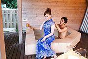 intense outdoor sex moments along busty Aya Mikami Photo 1