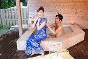 intense outdoor sex moments along busty Aya Mikami Photo 2