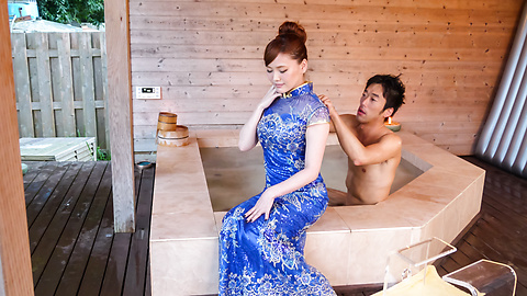Aya Mikami - Creampie Asian porn play during massage with Aya Mikami - Picture 1