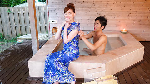 Aya Mikami - Creampie Asian porn play during massage with Aya Mikami - Picture 2