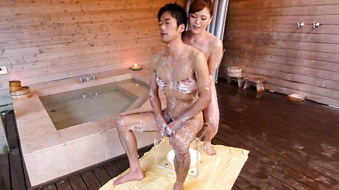 Aya Mikami - Creampie Asian porn play during massage with Aya Mikami - Picture 6