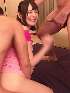 Mihono - Stunning Japanese  threesome along nude Mihono - Screenshot 9