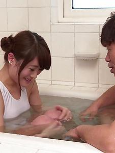 Hina Makimura - Hina Makimura enjoys hubby to stimulate her needy pussy - Screenshot 1