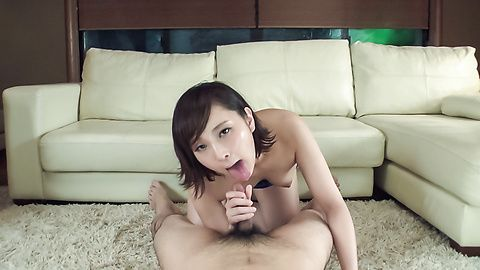 Uika Hoshikawa - Sexy amateur amazes with supreme Asian blowjob - Picture 8