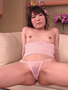 Tomoka Nanase - Tomoka Nanase shows off cracking her pussy with toys - Screenshot 12