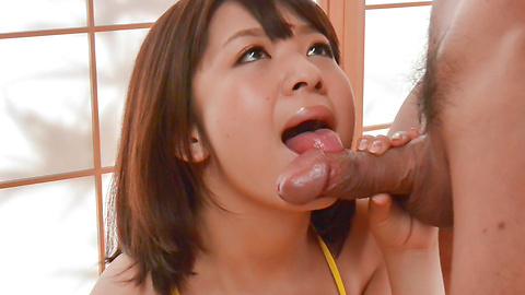 Wakaba Onoue - Japanese blowjob along busty Wakaba Onoue  - Picture 4
