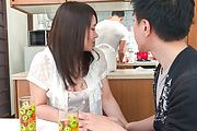 Sanae Akino - Asian amateur starts sucking cock in really hot ways - Picture 1