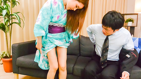 Miu Tsukino - Asian girl sucking cock in amateur porn session  - Picture 5