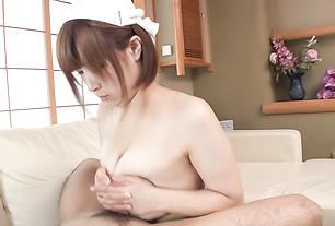 Busty Honoka Orihara complete Asian blowjob