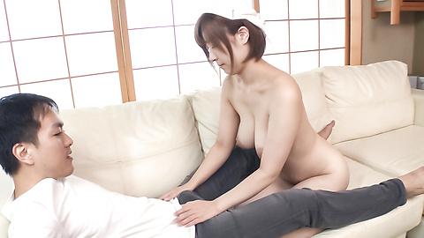 Honoka Orihara - Busty Honoka Orihara hot Japanese blow job  - Picture 6