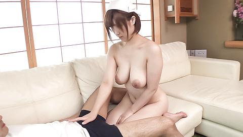 Honoka Orihara - Busty Honoka Orihara hot Japanese blow job  - Picture 9