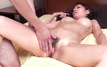 Hot massage session leads to Asian blowjob