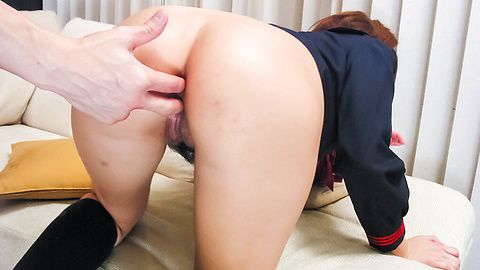 Schoolgirl Maya Takes DP And A Creampie In A Threesome