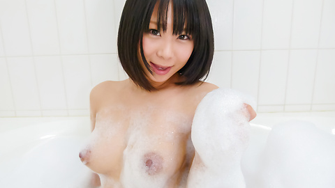 Mikan Kururugi - Asian amateur plays with her pussy in the shower  - Picture 10
