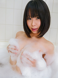 Mikan Kururugi - Asian amateur plays with her pussy in the shower  - Picture 12