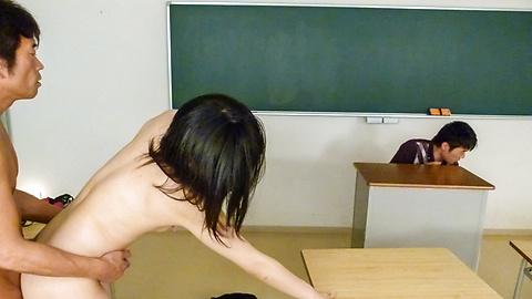 Kyoka Mizusawa - Kyoka MizusawaAsian giving blowjob at school - Picture 10