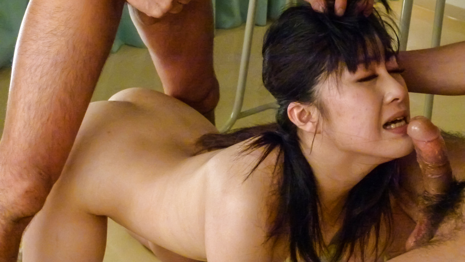 Rough Asian gangbang with sweet Kyoka Mizusawa