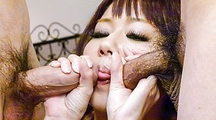 Yurika Miyachi amazes with her strong Asian blowjob